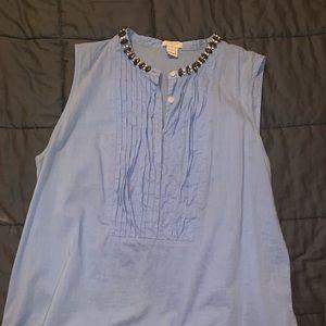 Light blue jcrew sleeveless top